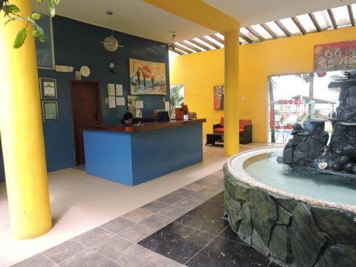 El vestíbulo o zona de recepción de Hotel Canoa´s Wonderland