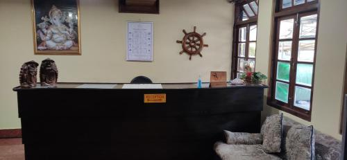 The lobby or reception area at Cherry Guest House