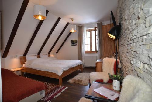 Krevet ili kreveti u jedinici u objektu B&B Villa Sumrak Rooms