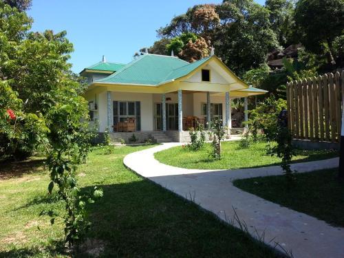 A garden outside Zanboza Guesthouse