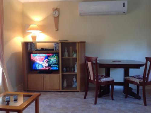 A television and/or entertainment center at The Cook Cottage