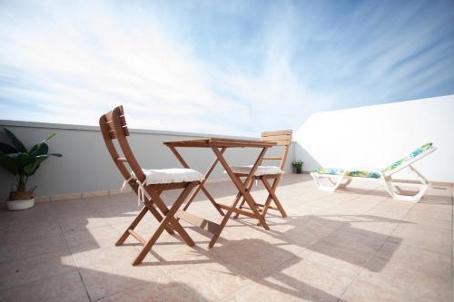 A balcony or terrace at Hotel Blanca Brisa Cabo de Gata