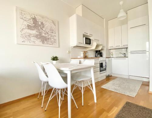 A kitchen or kitchenette at City Home Finland Tampella - City View, Own Sauna and Great Location