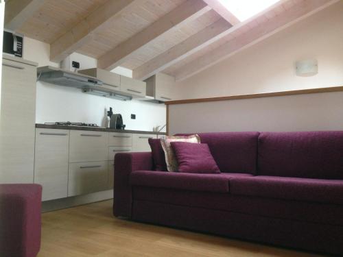 Ein Sitzbereich in der Unterkunft Residence CaFelicita