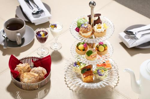 Breakfast options available to guests at Baccarat Hotel and Residences New York