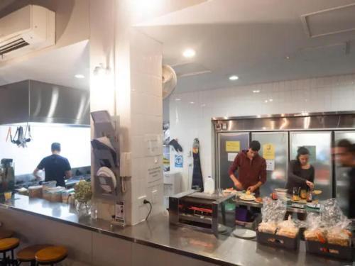 Køkken eller tekøkken på Big Hostel