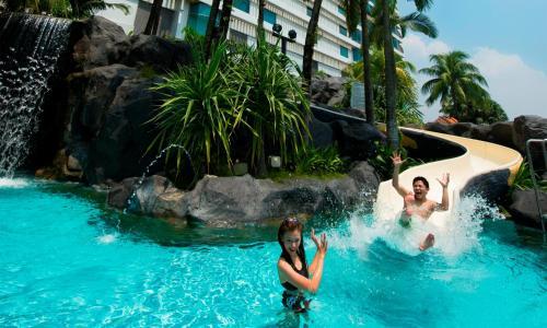 The swimming pool at or near Hilton Kuala Lumpur