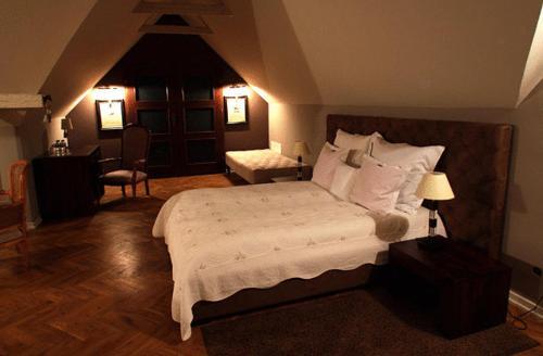 Łóżko lub łóżka w pokoju w obiekcie Villa Riccona