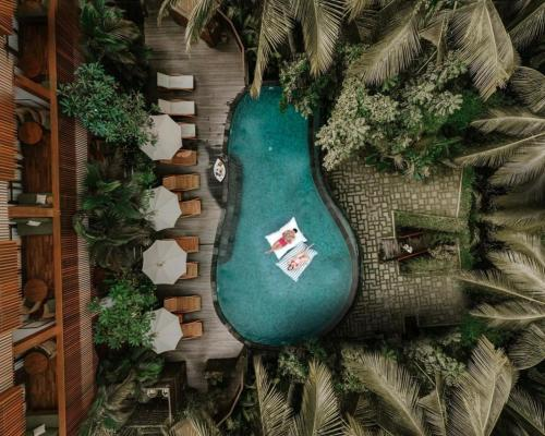A view of the pool at Adiwana Unagi Suites or nearby
