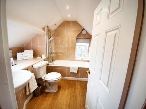 A bathroom at Plas Dinas Country House