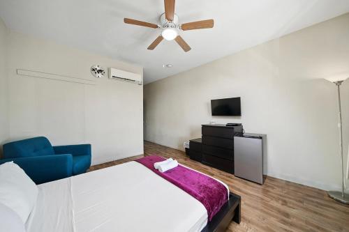 Cama o camas de una habitación en Samesun Hollywood