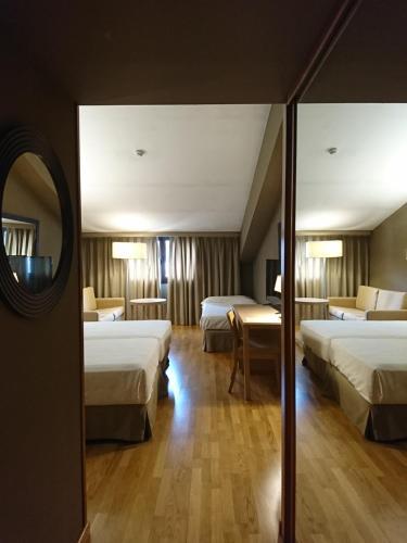Cama o camas de una habitación en Parador De La Seu D'urgell