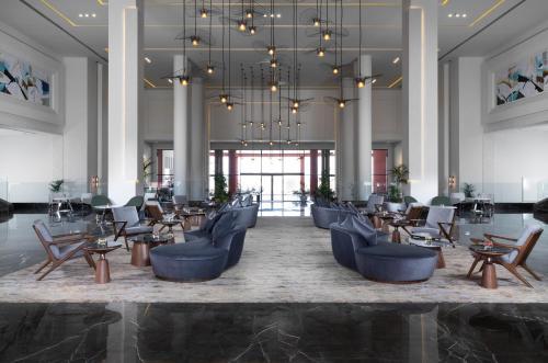 مطعم أو مكان آخر لتناول الطعام في Albatros Laguna Vista Resort - Families and Couples Only