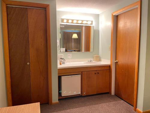A bathroom at Viking Shores Motor Inn