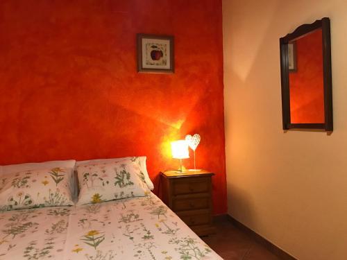 Cama o camas de una habitación en Casa Rural Cal Drac