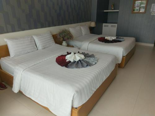 A bed or beds in a room at Vân Anh Luxury