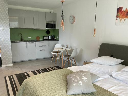 Küche/Küchenzeile in der Unterkunft Kal's Studio Apartment Salzburg