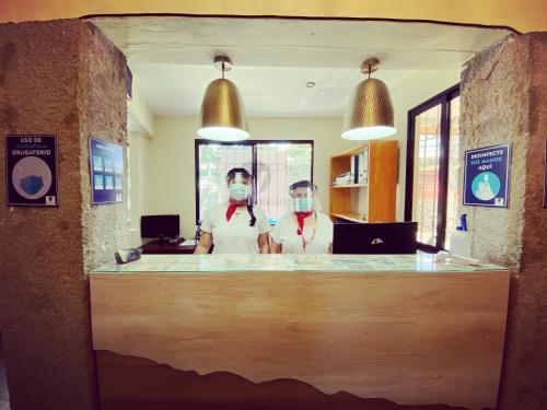 The lobby or reception area at Morrison Hotel de la Escalon