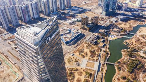 Oakwood Premier Incheon с высоты птичьего полета