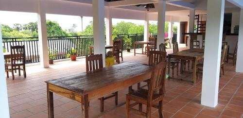 A restaurant or other place to eat at Khmer House