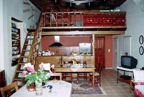Cuisine ou kitchenette dans l'établissement Enatha