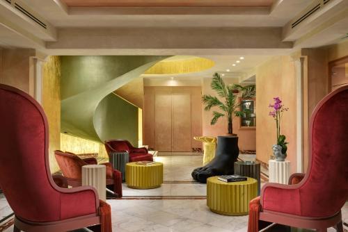 De lobby of receptie bij Leon's Place Hotel In Rome