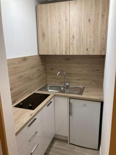 A kitchen or kitchenette at Apartments Mateljak