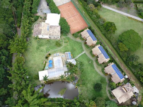 Uma vista aérea de Pousada Cantagalo