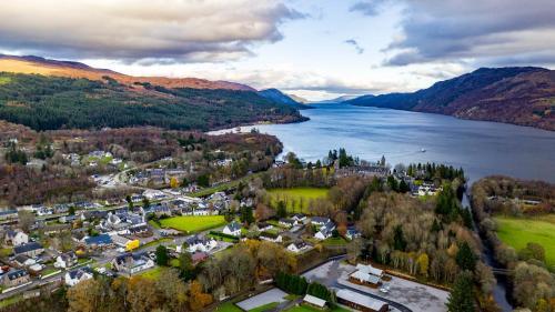 A bird's-eye view of Loch Ness Highland Resort