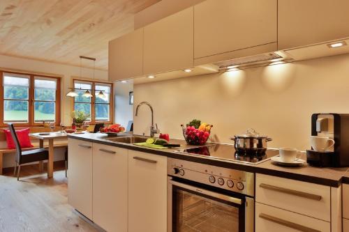 Küche/Küchenzeile in der Unterkunft Haus Elfriede