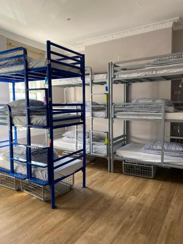 A bunk bed or bunk beds in a room at Prime Backpackers Angel