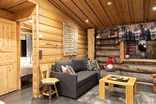 A seating area at Polar Aurora Cabins