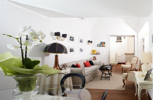 Ein Sitzbereich in der Unterkunft Casa Di Capri