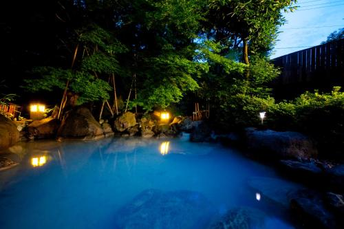 The swimming pool at or near Yufuin Yasuha