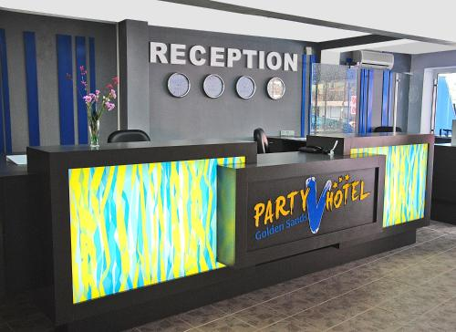 The lobby or reception area at Hotel Vladislav