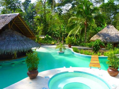 The swimming pool at or near 3 Bamboo Eco Lodge