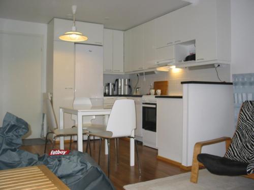 Ett kök eller pentry på Lapland City Centre Apartments
