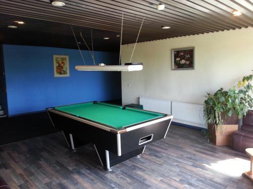 A pool table at Rojupe