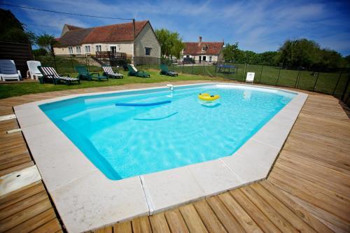 The swimming pool at or near Domaine de Matounet
