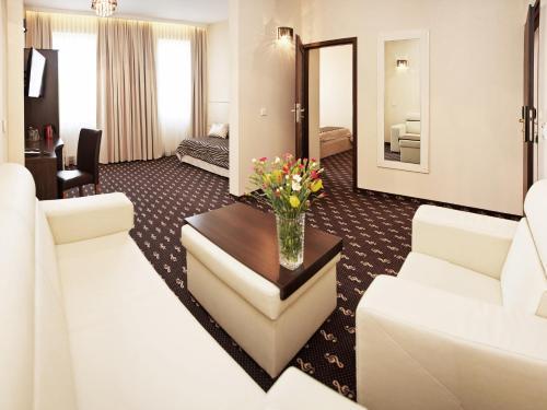 Część wypoczynkowa w obiekcie Hotel Fryderyk