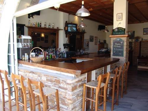 The lounge or bar area at Markos Village Pension