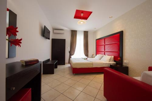 Χώρος καθιστικού στο Villa Dorita Luxury Apartments