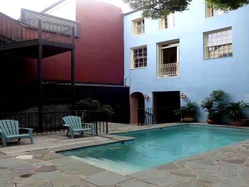 The swimming pool at or near Jean Lafitte House