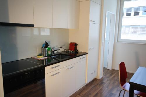 Küche/Küchenzeile in der Unterkunft HITrental Badenerstrasse Apartments