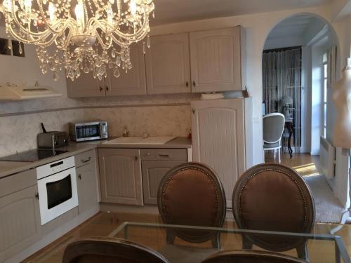 A kitchen or kitchenette at Magnifique Appartement dans Hôtel Particulier Monument Historique