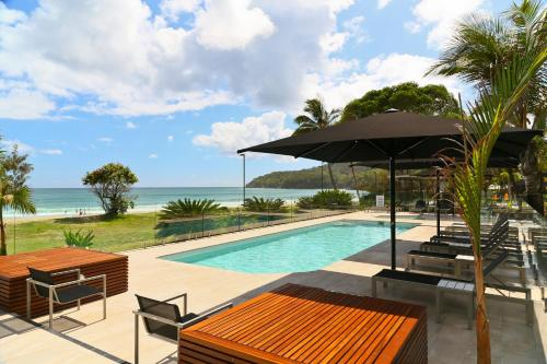 The swimming pool at or near Seahaven Noosa Beachfront Resort