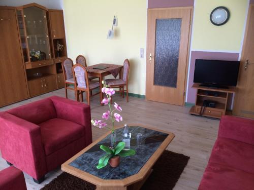 Ein Sitzbereich in der Unterkunft Aparthotel HAUS USEDOM