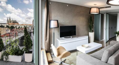 TV/Unterhaltungsangebot in der Unterkunft Wenceslas Square Terraces