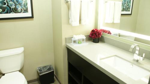 A bathroom at Ramada by Wyndham Marina del Rey