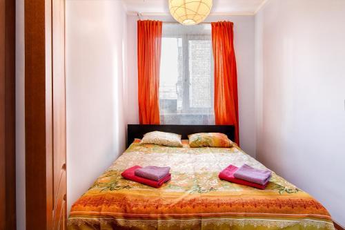Кровать или кровати в номере City Inn Апартаменты Белорусская